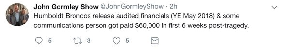 Gormley Tweets